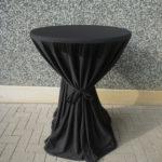 Statafel inclusief rok zwart